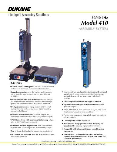 40 kHz Model 410 plastics assembly system