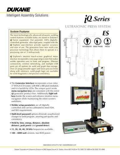 iQ Series ES Ultrasonic Press System