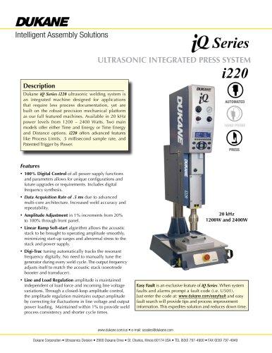 iQ Series i220 Ultrasonic Integrated Press System