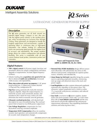 iQ Series LS-E Ultrasonic Generator/Power Supply