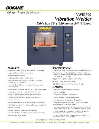 Model 3700 Vibration Welder