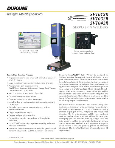 Spin Welder - Servo - SVTO32R-SVTO42R