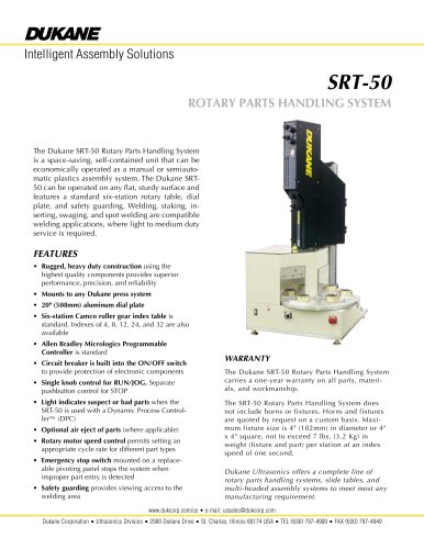 SRT-50 ROTARY PARTS HANDLING SYSTEM