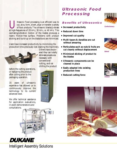 Ultrasonic Food Processing - Cutting