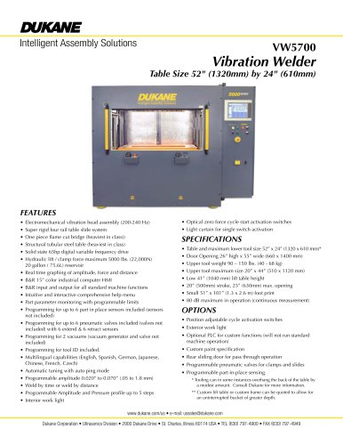 VW 5700 Vibration Welder