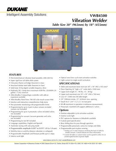 VWB4500 - Vibration Welder