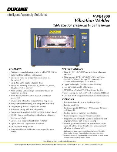 VWB4900 Vibration Welder