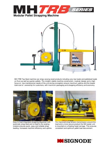 MH-TR Top Seal Strapping Machine