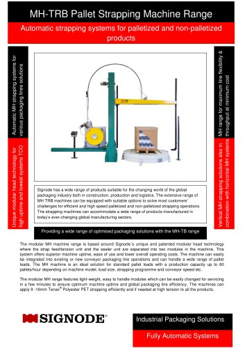 MH-TRB Pallet Strapping Machine Range