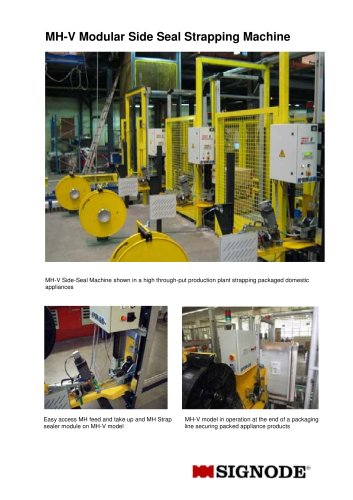MH-V Modular Side Seal Strapping Machine