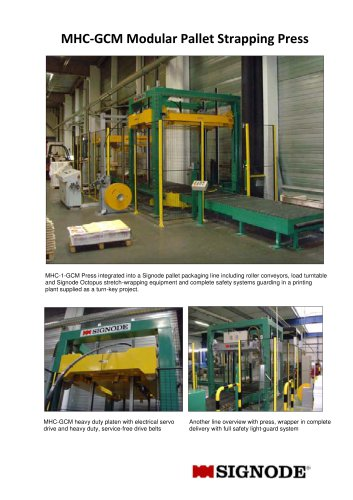 MHC-GCM Modular Pallet Strapping Press