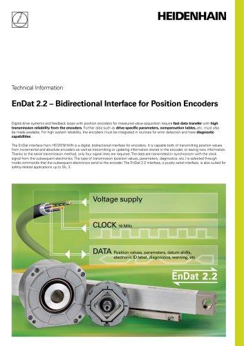EnDat 2.2 –  Bidirectional Interface for Position Encoders