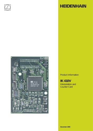 IK 410 V Interpolation and  Counter Card