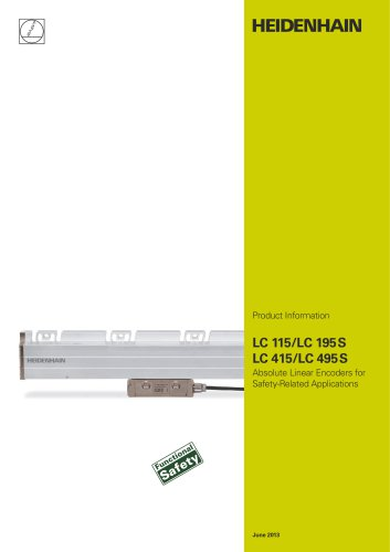 LC 115/LC 195S, LC 415/LC 495S - Absolute Linear Encoders for Safety-Related Applications
