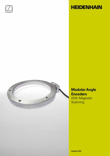 Modular Angle Encoders With Magnetic Scanning