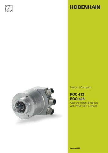 ROC 413 ROQ 425 Absolute Rotary Encoders with PROFINET Interface