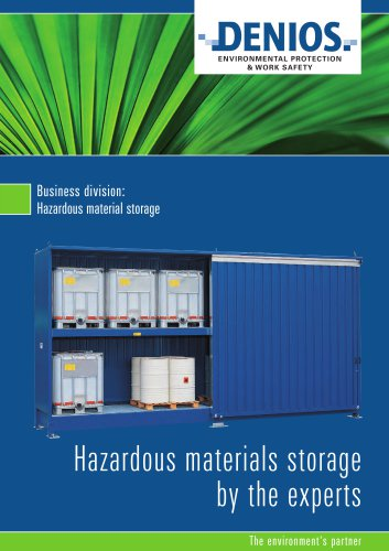 Hazardous storage brochure