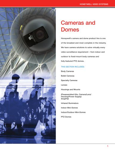 Cameras and Domes