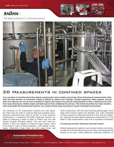 3D Measurements in confined spaces