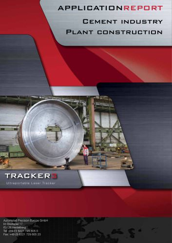 Cement industry: Measuring of large parts with laser tracker