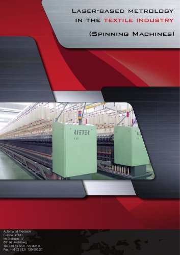 Laser-based metrology in the textile industry (spinning machines)