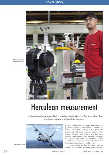 Laser trackers and handheld scanners used for building military aircraft at Lockheed Martin