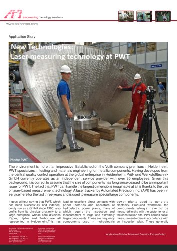 Measurement services for paper factories and hydroelectric power plants