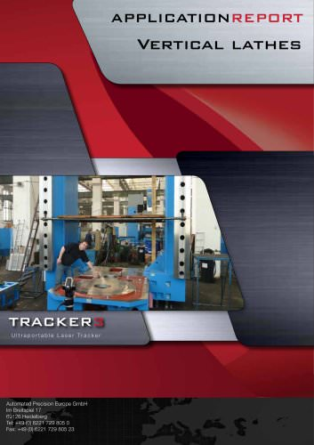 Vertical lathes: Measurement of large parts with a laser tracker