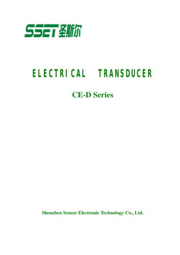 CE-D Catalogue for Transducer with led Display