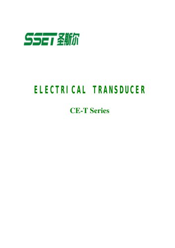 CE-T Catalogue for Transducer with Analog Output