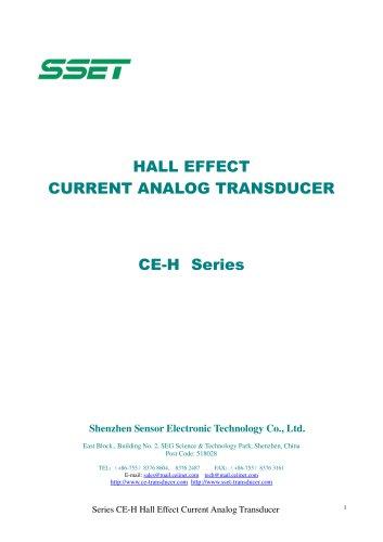 Hall Effect Analog Current Transducer
