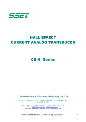 HALL EFFECT CURRENT ANALOG TRANSDUCER CE-H Series