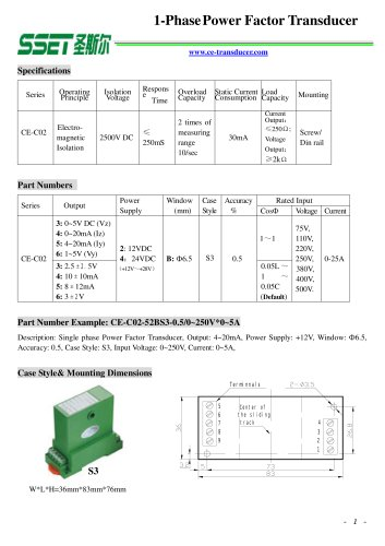 Power Factor Transducer