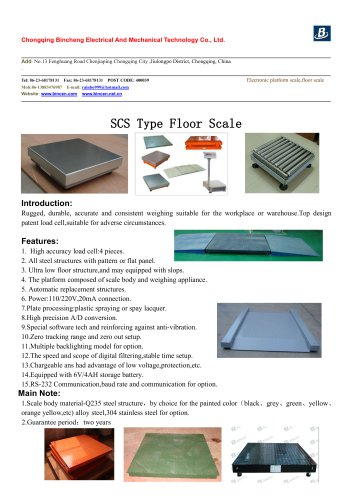 1-10t High accuracy Platform/floor scale for industry weighing