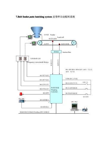 BINCEN Belt Feeder Scale ICS for cement,sintering and fertilizer plant