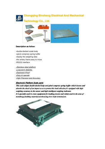 BINCEN Steel Buffer Scale 5-20t for heavy duty weighing