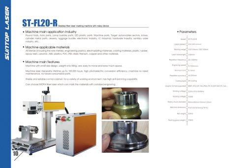 SUNTOP/Desktop fiber laser marking machine with rotary device
