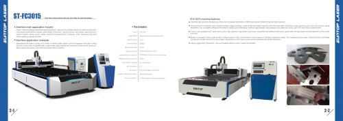 SUNTOP/Fiber laser cutting machine with duai drive Gear and rack transmission