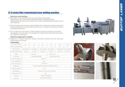SUNTOP/ST-A series fiber transmission laser welding machine