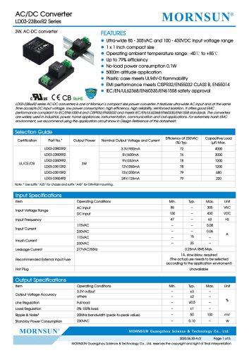 AC/DC Converter LD03-23BxxR2