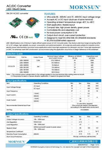 AC/DC Converter LS05-13BxxR3