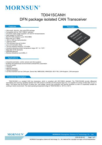 CAN / 485 /232 bus interface  TD041SCANH