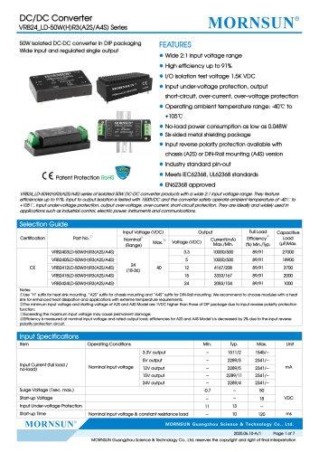 DC/DC Converter wide input VRB24_LD-50WR3