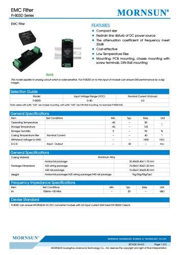 FI-B03D / EMI Filter