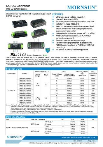 URB_LD-30WR3 / 4:1 / 30 watt / dc dc converter / industrial