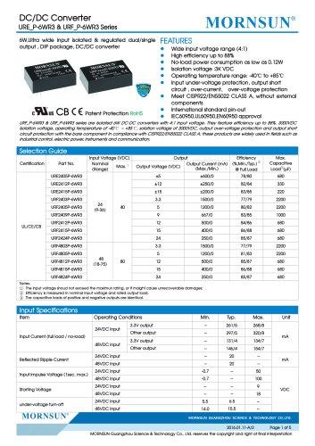URF_P-6WR3:IEC60950,UL60950,EN60950 approval