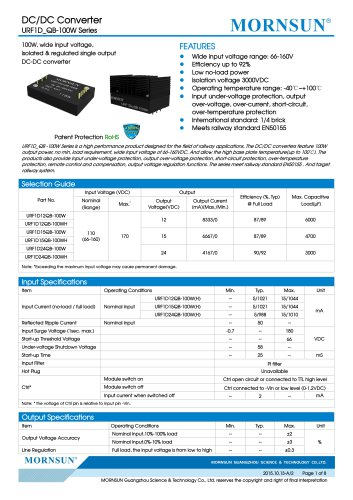 URF1D_QB-100W:Meets railway standard EN50155