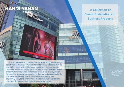 Yaham led advertising display in business property catalogue