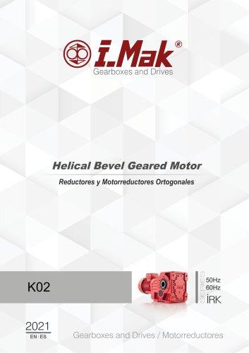 Reductores de ruedas cónicas  (Serie IRK)