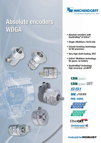 Absolute encoders WDGA